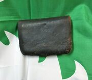 Civil War Cartridge Pouch Unmarked Leather With Interior Tin