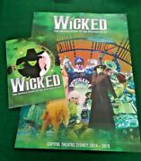 Wicked The Untold Story Of The Witches Of Oz Stage Production Book Autographed