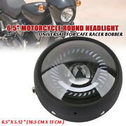 7w 6.5 Motorcycle Round Headlight Universal For Cafe Racer Bobber Blue