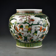 10 Old China Antique The Ming Dynasty Multicolored Baby Play Pot