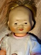 Very Rare 1950s Horsman Perthy Doll / Percy Doll 13.5 All Vinyl Asian Baby