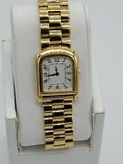 Coach Legacy Gold Tone Stainless Steel Silver Dial Ladies Quartz Watch 14500147