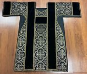 Antique Priest Vestment Gold And Black Amazing Quality Church Find