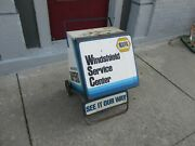 1970's Napa Wiper Blades Service Station Display Cabinet - Gas And Oil Vintage