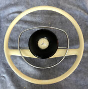 Mercedes Benz Ivory Early Steering Wheel Horn And Hub W115 W111 Fit Others