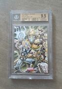 Iron Man Thor Vs Ultron 2011 Marvel Universe Sketch Card By Anthony Tan Bgs 9.5