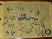 2013 Signed Autograph President's Cup Tournament Flag Rare 21sigs