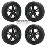 18 Ford Focus Gloss Black Wheels Rims And Tires Oem Set 4 2015-2019 10015