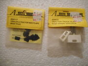 2 New Packs Of A-line Ho Tractor/trailer Detail Parts, Mud Flaps, Small Sleeper