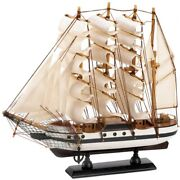 Collectible Model Ship Wooden Passat Tall Ship Boat Wood Assembled Home Decor