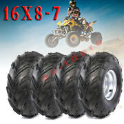 4pcs 16x8-7 Tire Wheel Rim Coolster Kids Atv Quad Buggy Left And Right 16x8x7