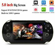 128 Bit Handheld 5 Inch Video Game Built-in 1000 Games Portable Console Player