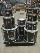 Pearl 9 Piece Mlx All Maple Shell Black Drumkit With Hardware
