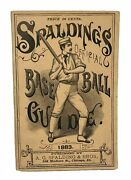 A G Spalding / Spaldingand039s Base Ball Guide And Official League Book For 1883 1st