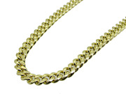 Menand039s 14k Hollow Gold Miami Cuban Chain 24 Inches 7.5mm