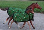 Mare And Foal Blanket Set Tack Peter Stone Ps Breyer Model Horse Mom Baby Colt
