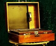 Antique Screen Printing Outfit Lion Menucator 1930/40 With 4 Tintype Photographs