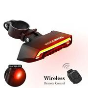 Bicycle Light Led Usb Rechargeable Bike Rear Wireless Remote Control Tail Lamp