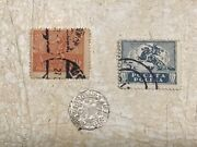 Medieval Silver Coin 1506 1/2 Grosh King Alex Poland And Stamp 5k 20k 1919 Lot