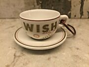 Starbucks 2006 Wish Holiday Cup And Saucer Ornament
