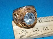 Vintage - U.s.army Drill Sergeant Military Ring Size 8 - Nos - Alpha Brand