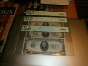 3 Fr 2055g 1934a 20 Dollar Ms 65 Federal Reserve Notes From Same Sheet