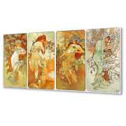 Seasons Classic Alphonse Mucha Canvas Print Picture Wall Art Free Fast Delivery