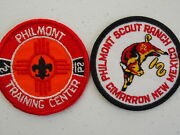 Two Philmont Scout Ranch And Philmont Training Center Patches