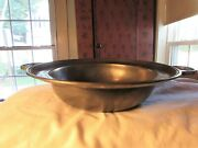 Old World Pewter 11 1/2 '' Two Handled Serving Bowl Older Used Lead Free