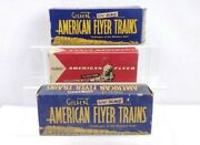 3 American Flyer Boxes 904 Caboose 633-r And 639 Box Cars Box Only S Scale
