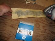 1972 Plymouth Duster Twister Decal Nos 3685226 A
