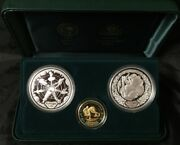 Sydney 2000 Olympic Gold And Silver 3 Proof Coin Set 5 Preparation Ii
