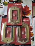 3-amerelle Premium Polished Solid Brass Sonoma Single Duplex Outlet Covers