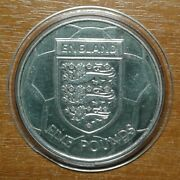 Alderney 5 Pound 2004 England Football Cu-ni Very Rare