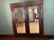 Vintage Set Solid Wood French Door And Glass Panels Etching 32andrdquox80andrdquo
