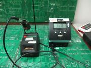 Weller Wd1 Soldering Station With Iron And Elvo Clean-o-point Stand