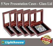 5 Lighthouse Certified Coin Slab Display Box Cases For Ngc Pcgs Anacs W/ Window