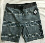 """Nwt Hurley Mens Board Surf Shorts Swimsuit 31 Msrp 45 20"""" Length Vibes"""