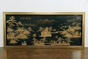 Chinese Imperial Gardens Scene Traditional Vintage 10and039 Cork Art Picture 35027
