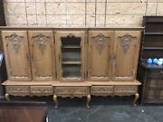 Super Antique Country French 5 Door Bookcase Super Nice One Of A Kind