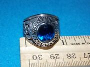 Vintage - Army Desert Storm Menand039s Blue Stone Ring Size 10.25 - Nos - Alpha Brand