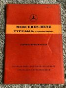 Mercedes W188 Type 300 300sc Owners Instruction Manual Booklet Edition A 188
