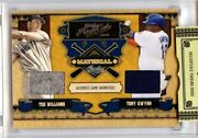 2008 Playoff Prime Cuts Ted Williams Tony Gwynn Combos Jersey Relics /99 💎