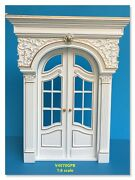 16 Scale Fancy Craved Victorian French Door Forbarbie White Dollhouse Miniature