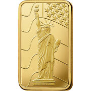 L@@k Pamp 1oz Gold Bar |statue Of Liberty| Minted Prepper Survival Investment