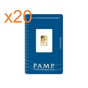 L@@k Pamp | 20 X 1g | 20g Gold Bar Rosa Rare |minted Survival Investment