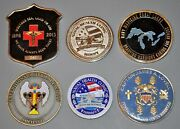 Lot Of 6 Usn Navy Medical Hospital Corps Djibouti Hawaii Lovell Challenge Coins
