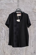 By Walid Black Jersey Cotton T-shirt 18-19th Century Lace And Crochet Xl,630