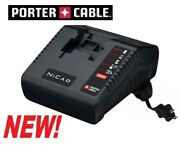 New Genuine Porter Cable Pcmvc 9.6v - 18v Multi-volt Nicad Nicd Battery Charger