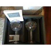 Waterford Crystal Prosperity Toasting Goblets Millennium Collection New In Box